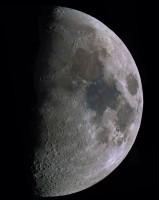 Lune en noir et blanc et couleurs